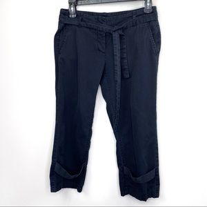Theory Charcoal Cropped Chino Pants 0
